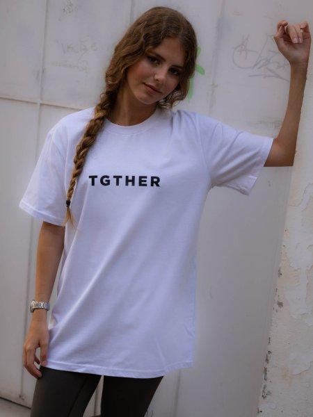 TGTHER T-SHIRT LADYS WEISS SCHWARZ