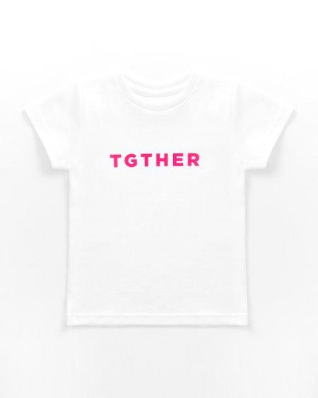 TGTHER T-SHIRT GIRLS WEISS PINK 4/5 JAHRE