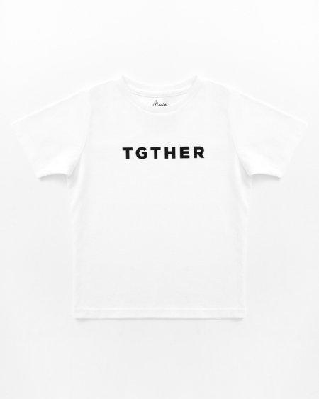 TGTHER T-SHIRT BOYS WEISS SCHWARZ 1/2 JAHRE