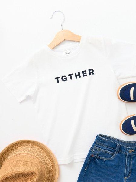 TGTHER T-SHIRT BOYS WEISS SCHWARZ 4/5 JAHRE