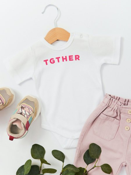 TGTHER BABY BODY WEISS PINK