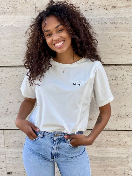 T-SHIRT MOTHER LOVE OFF-WHITE M
