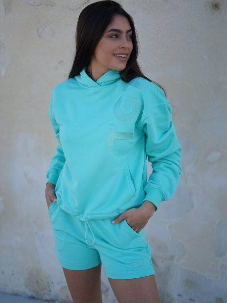 TGTHER CROPPED HOODIE PEPPERMINT L
