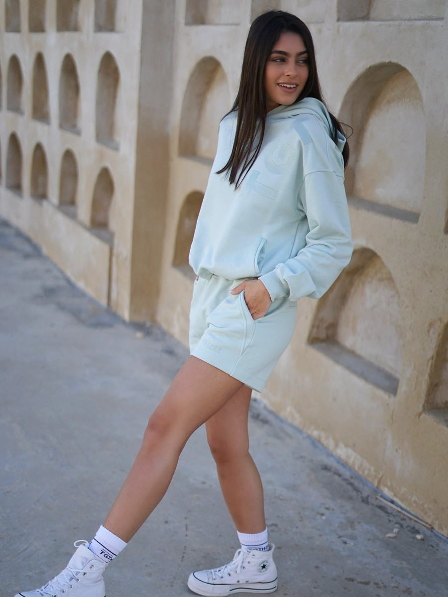 TGTHER CROPPED HOODIE DUSTY MINT M