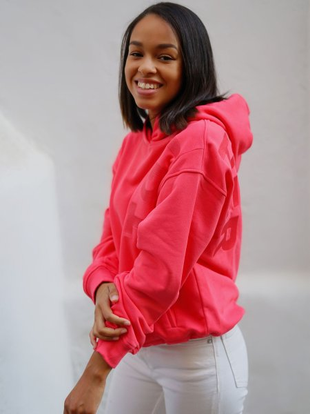 TGTHER CROPPED HOODIE KORALLE L